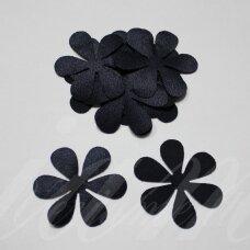 atl0010-gel-33x33 apie 33 x 33 mm, gėlytės forma, tamsi, mėlyna spalva, atlasas, 10 vnt.