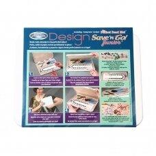 Bead Buddy® Save 'n Go™ dizaino šablonas pradedančiajam ir kilimėlis karoliukams