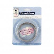 Beadalon® 316L apvali vielutė iš nerūdijančio plieno 16 diametras/1.3mm (1.75m)