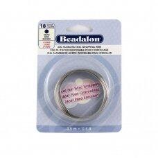 Beadalon® 316L apvali vielutė iš nerūdijančio plieno 18 diametras/1.02mm (3.5m)