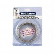 Beadalon® 316L apvali vielutė iš nerūdijančio plieno 22 diametras/0.64mm (10m)