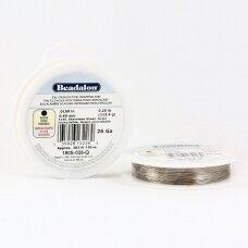 Beadalon® 316L apvali vielutė iš nerūdijančio plieno 26 diametras/0.41mm (110.6m)