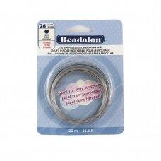 Beadalon® 316L apvali vielutė iš nerūdijančio plieno 26 diametras/0.41mm (20m)