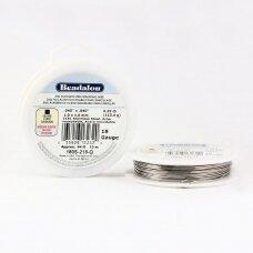 Beadalon® 316L kvadratinė vielutė iš nerūdijančio plieno 18 diametras/1.02mm (13m)
