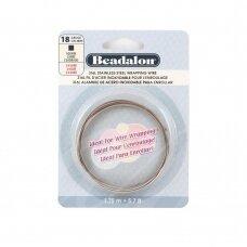 Beadalon® 316L kvadratinė vielutė iš nerūdijančio plieno 18 diametras/1.02mm (1.75m)