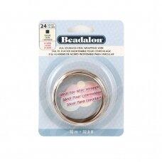Beadalon® 316L kvadratinė vielutė iš nerūdijančio plieno 24 diametras/0.51mm (10m)