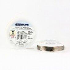 Beadalon® 316L kvadratinė vielutė iš nerūdijančio plieno 24 diametras/0.51mm (55m)