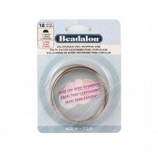 Beadalon® 316L pusiau apvali vielutė iš nerūdijančio plieno 18 diametras/1.02mm (5.25m)