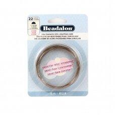 Beadalon® 316L pusiau apvali vielutė iš nerūdijančio plieno 22 diametras/0.64mm (15m)