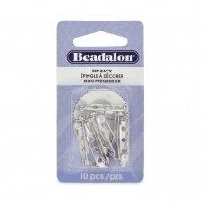 Beadalon® adatėlių nugarėlės 25mm padengtos rodžiu (10 vnt)