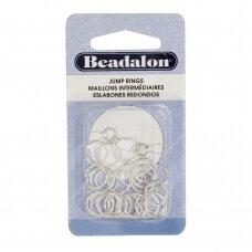 Beadalon® apvalūs atviri žiedeliai/kilputės 10mm padengti sidabru (30 vnt)
