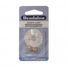 Beadalon® apvalūs magnetinis užsegimai 6mm aukso spalvos (2 vnt)