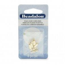 Beadalon® atlenkiami antgaliai virvelėms 4.6x12mm aukso spalvos (8 vnt)
