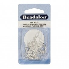 Beadalon® Ball & Spring Ear Wires Silver Plated (20 pcs)