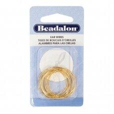 Beadalon® auskarų lankeliai ringės vidutiniai (Medium) 25mm aukso spalvos (12 vnt)