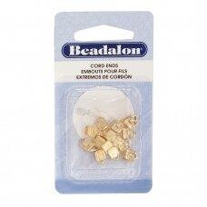 Beadalon® C-Crimp Cord Ends 1.9mm Gold Color (14 pcs)
