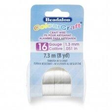 Beadalon® ColourCraft® vielutė 16 Gauge/.050in/1.3mm padengta sidabru (7m/8yd)