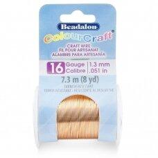 Beadalon® ColourCraft® vielutė 16 Gauge/.050in/1.3mm vario spalvos (7m/8yd)