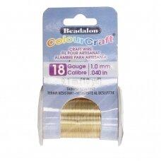 Beadalon® ColourCraft® vielutė 18 Gauge/.040in/1.02mm aukso spalvos (9m/10yd)
