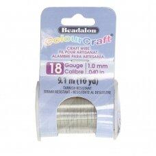 Beadalon® ColourCraft® vielutė 18 Gauge/.040in/1.02mm sidabro spalvos (9m/10yd)