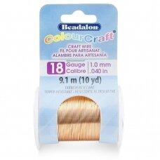 Beadalon® ColourCraft® vielutė 18 Gauge/.040in/1.02mm vario spalvos (9m/10yd)