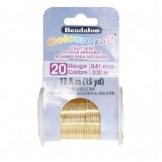 Beadalon® ColourCraft® vielutė 20 Gauge/.032in/0.81mm aukso spalvos (13.8m/15yd)
