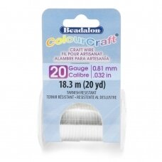 Beadalon® ColourCraft® vielutė 20 Gauge/.032in/0.81mm padengta sidabru (13.8m/15yd)