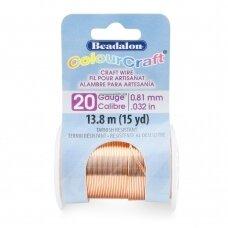 Beadalon® ColourCraft® vielutė 20 Gauge/.032in/0.81mm vario spalvos (13.8m/15yd)