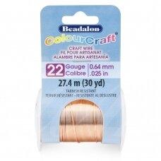 Beadalon® ColourCraft® vielutė 22 Gauge/.025in/0.64mm vario spalvos (18m/20yd)
