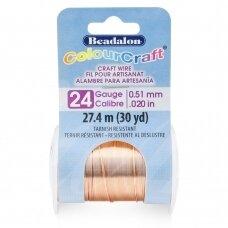 Beadalon® ColourCraft® vielutė 24 Gauge/.020in/0.51mm vario spalvos (27m/30yd)
