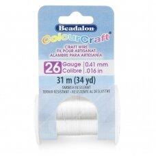 Beadalon® ColourCraft® vielutė 26 Gauge/.016in/0.41mm padengta sidabru (31m/34yd)