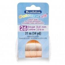 Beadalon® ColourCraft® vielutė 26 Gauge/.016in/0.41mm vario spalvos (31m/34yd)