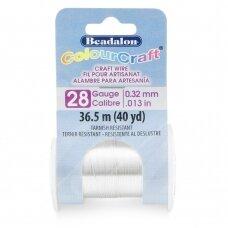 Beadalon® ColourCraft® vielutė 28 Gauge/.013in/0.32mm padengta sidabru (36.5m/40yd)