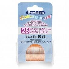 Beadalon® ColourCraft® vielutė 28 Gauge/.013in/0.32mm vario spalvos (36.5m/40yd)