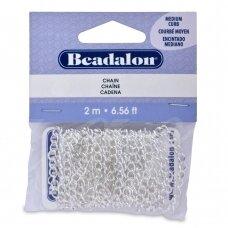 Beadalon® Chain Medium Curb .161in/4.1mm Silver Plated (2m/6.56ft)