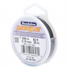 Beadalon® DandyLine™ pintas siūlas .006in/0.15mm juodas (25m/82ft)