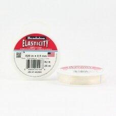 Beadalon® Elasticity™ įtempiama virvelė 0.5mm Clear (skaidri) (25m)