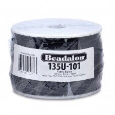 Beadalon® elastinė virvelė padengta medžiaga .039in/1mm juoda (91m/300ft)