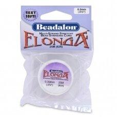Beadalon® Elonga™ įtempiama virvelė .012in/0.3mm balta (25m/82ft)