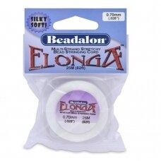 Beadalon® Elonga™ įtempiama virvelė .028in/0.7mm balta (25m/82ft)