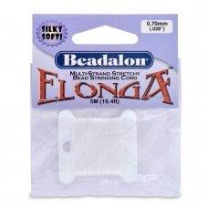 Beadalon® Elonga™ įtempiama virvelė .028in/0.7mm balta (5m/16ft)