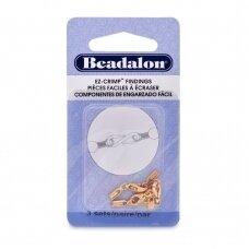 Beadalon® EZ-Crimp™ ovalūs užsegimai 24mm aukso spalvos (3 sets)
