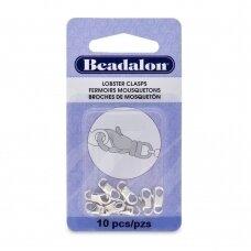 Beadalon® EZ-Lobster™ užsegimai maži (Small) 11mm padengti sidabru (10 vnt)