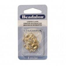 Beadalon® EZ-Lobster™ užsegimai vidutiniai (Medium) 15mm aukso spalvos (8 vnt)