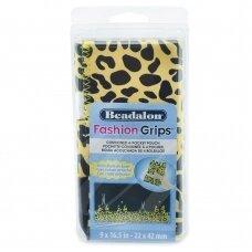 Beadalon® Fashion Grips™ minkštas dėklas 4 įrankiams 9x16.5in/22x42cm Cheetah (gepardo raštas)