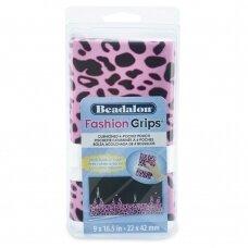 Beadalon® Fashion Grips™ minkštas dėklas 4 įrankiams 9x16.5in/22x42cm Pink Cheetah (rožinis gepardo raštas)