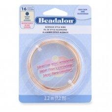 Beadalon® German Style apvali vielutė 16 Gauge/.050in/1.3mm aukso spalvos (2.2m/7.2ft)
