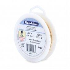 Beadalon® German Style apvali vielutė 20 Gauge/.032in/0.81mm aukso spalvos (23.7m/78ft)