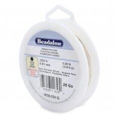 Beadalon® German Style apvali vielutė 20 Gauge/.032in/0.81mm padengta sidabru (23.7m/78ft)