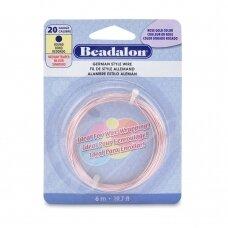 Beadalon® German Style apvali vielutė 20 Gauge/.032in/0.81mm rausvo aukso spalvos (6m/19.7ft)